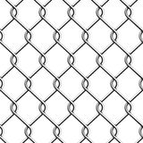Seamless Chain Fence. Royalty Free Stock Images