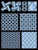 Seamless chain textures royalty free illustration