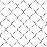 Seamless chainlink fence Stock Images