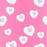 Seamless chalk heart candy background Royalty Free Stock Photos