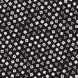 Seamless chaotic patterns. Randomly scattered geometric shapes. Abstract retro background design. Seamless chaotic patterns. Randomly scattered geometric square royalty free illustration