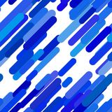 Seamless chaotic rounded diagonal stripe background pattern Royalty Free Stock Image