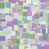 Seamless chaotic square background pattern - vector illustration from squares in colorful tones. With shadow effect Stock Photography