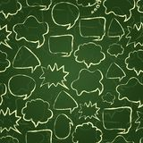 Seamless Chat Pattern with Speech Bubble Silhouette Stock Photos