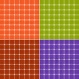 Seamless check patterns Stock Photos