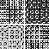 Seamless checked crisscross patterns. Stock Photography