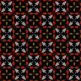 Seamless checked pattern with crosses. Royalty Free Stock Photos