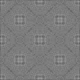 Seamless checked pattern. 3D optical illusion. Royalty Free Stock Photos