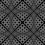Seamless checked pattern with optical 3D effect. Stock Photos