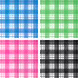 Seamless checked pattern set Stock Photos