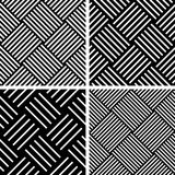 Seamless checked patterns set. Royalty Free Stock Photography