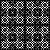 Seamless checkered abstract monochrome pattern from square zones filled with circles and ovals. Pattern for clothing Royalty Free Stock Photos