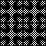 Seamless checkered abstract monochrome pattern from square zones filled with circles and ovals. Pattern for clothing Stock Image