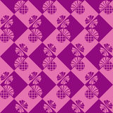 Seamless checkered background with flowers thistle Royalty Free Stock Image