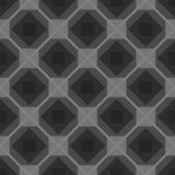 Seamless checkered black and white tablecloth vector background rhombus monochrome Stock Photo