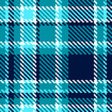 Seamless checkered blue vector pattern Royalty Free Stock Images