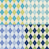 Seamless checkered fabric pattern Royalty Free Stock Image