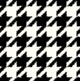 Seamless checkered fabric pattern Stock Photography