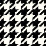 Seamless checkered fabric pattern Stock Photography