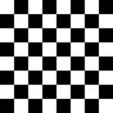 Seamless Checkered Pattern. Seamless black and white checkered pattern for floor or chessboard Royalty Free Stock Photo