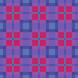 Seamless checkered pattern in blue, pink and violet Stock Images