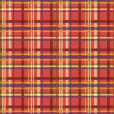 Seamless checkered pattern in multiple colors. Seamless checkered pattern. Colored diagonal lines form bright plaid print. Criss-crossed horizontal and vertical Stock Photos
