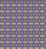 Seamless checkered pattern. Purple and beige Royalty Free Stock Photos