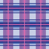 Seamless checkered pattern in violet, blue and pink Stock Photo