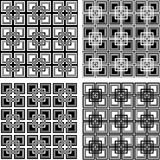 Seamless checkered patterns set. Royalty Free Stock Photo