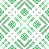 Seamless checkered plaid pattern on white Royalty Free Stock Photos