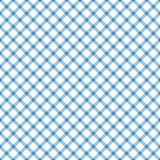 Seamless checkered table cloth pattern. Seamless blue colored checkered table cloth pattern for background design Stock Photos