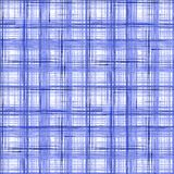 Seamless checkered tartan plaid pattern background. Blue, white pattern. Royalty Free Stock Photo