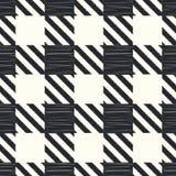 Seamless checkered textile pattern Royalty Free Stock Photos