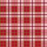 Seamless checkered vector pattern Stock Images