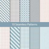 Seamless Checkered Vintage Pattern Set Royalty Free Stock Photos