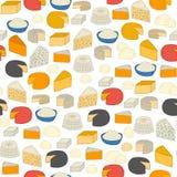 Seamless cheese background Stock Photo