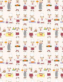 Seamless chef pattern Royalty Free Stock Photos