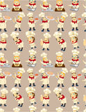 Seamless chef pattern Stock Photos