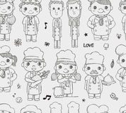 Seamless chef pattern Stock Images
