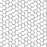Seamless chemical pattern Stock Photography