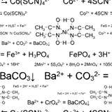 Seamless chemical pattern Stock Photo