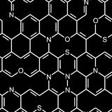Seamless chemical pattern Stock Image