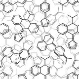 Seamless chemical pattern Royalty Free Stock Photos
