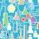 seamless chemical växt vektor illustrationer