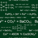 Seamless chemical wallpaper Royalty Free Stock Image