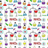 Seamless chemistry pattern. Stock Images