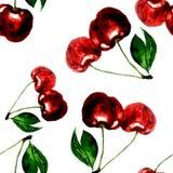 seamless Cherry Royaltyfri Bild