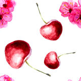 seamless Cherry Royaltyfria Bilder