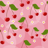 Seamless cherry background Stock Image