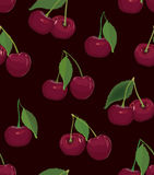 Seamless cherry background Stock Photography